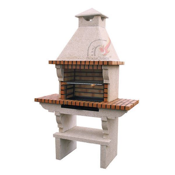 brick BBQ with grill