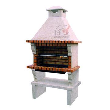 Brick BBQ with chimney 109 large grill