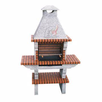 DIY Brick BBQ with chimney 111