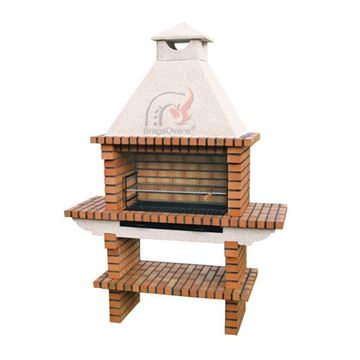DIY Brick BBQ with chimney 116