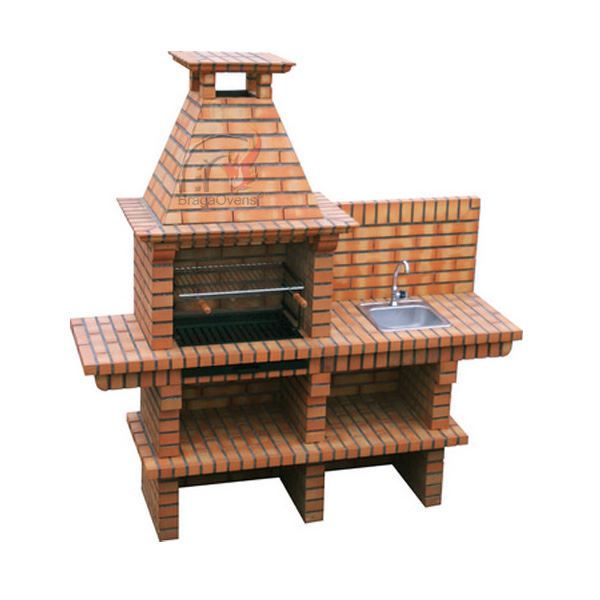 Diy brick bbq with sink diy 140 pizza oven and bbq store for Barbecue en brique plan