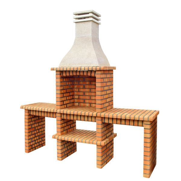 Rustic brick BBQ for DIY 217