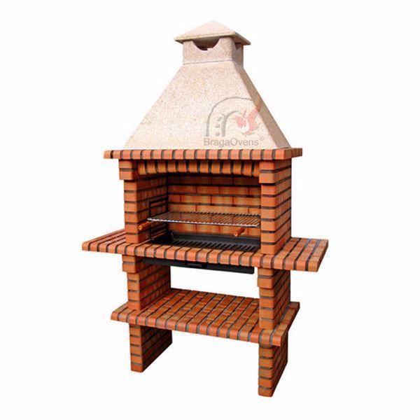 Large Brick BBQ 70cm for DIY. www.EN-barbecue.com - BragaOvens
