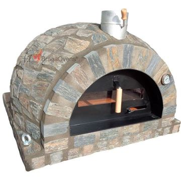 Traditional pizza oven in natural grey stone - www.EN-barbecue.com - BragaOvens