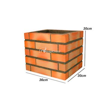 Chimney extensions 30 cm for the Brick BBQ 140