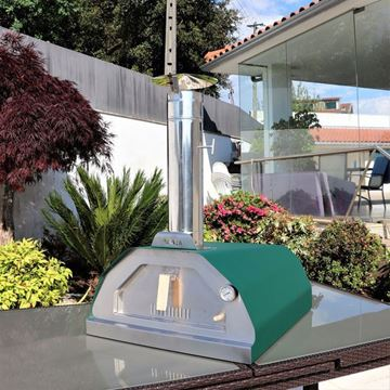 Green Brasa wood fired outdoor pizza oven