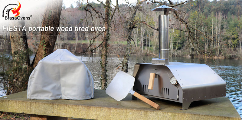 portable pizza oven FIESTA - it's a small wood fired oven